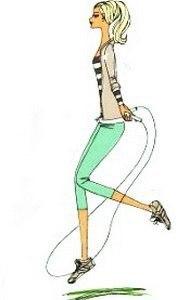 Пять упражнений со скакалкой