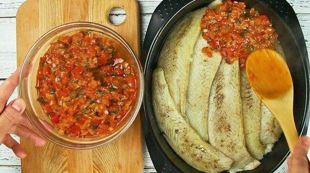 Рыбка в томатном соусе для идеального ужина!
