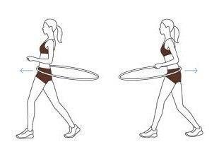 4 упражнения с хулахупом. 4 упражнения с хулахупом 1