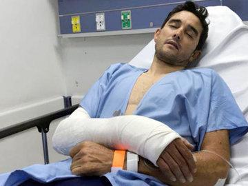 Профессионального гонщика избили и ограбили на тренировке