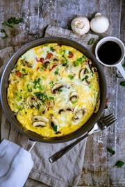 Полезный завтрак: фриттата с гречкой