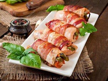 Куриное филе в беконев духовке: лучший рецепт