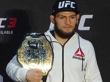 Ставший чемпионом UFC боец Нурмагомедов обратился к Путину