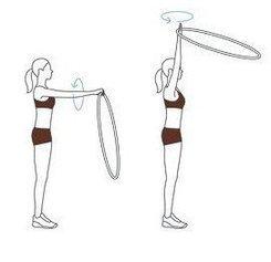 Четыре упражнения с хулахупом