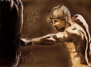 Кардиотренировка с боксерским мешком